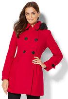 New York & Co. Hooded Wool-Blend Coat