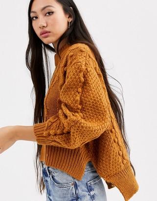 Asos crop cable bobble knit-Multi