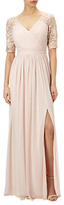 Adrianna Papell Stretch Sequin And Tulle Gown, Blush