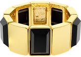 Monet Jet Crystal Stretch Bracelet, Gold