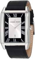 Pierre Petit Men's Serie Paris black leather band watch.