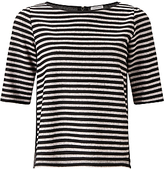 Marella Grado Stripe Jersey Top, Powder