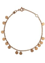 14kt Rose Gold Dangle Disc Bracelet