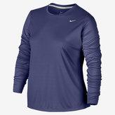 Nike Dry Miler Women's Long Sleeve Running Top (Plus Size 1X-3X)
