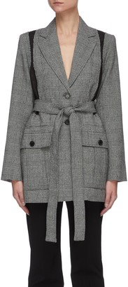 J.W.Anderson Belted back panel check blazer