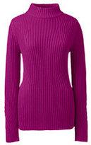 Classic Women's Petite Lofty Placed Rib Mock Neck Sweater-Cherry Jam