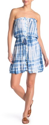 Tiare Hawaii Strapless Mini Tie Dye Dress