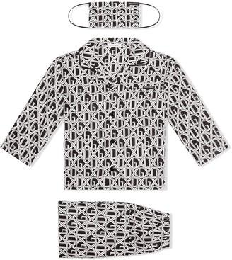 Dolce & Gabbana Kids DG-print pajama set with matching face mask