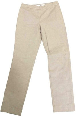 R By 45 Rpm Camel Cotton Trousers for Women