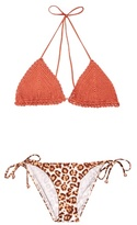 Zimmermann Alchemy crochet and printed bikini