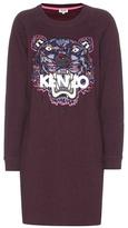 Kenzo Embroidered cotton sweatshirt dress