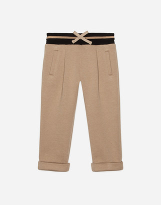 Dolce & Gabbana Jersey Jogging Pants With Embroidery