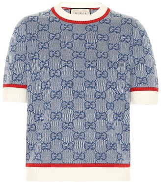 Gucci GG knitted wool and cotton top