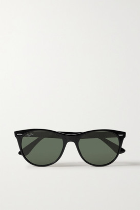 Ray-Ban Wayfarer Ii Classic Round-frame Acetate Sunglasses - Black