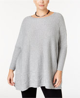 Style&Co. Style & Co. Plus Size Cable-Hem Sweater, Only at Macy's