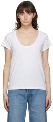 Rag & Bone White The Slub U-Neck T-Shirt