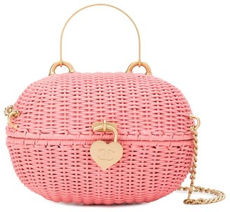 Chanel Pre Owned Oval Locket Basket 2way Bag