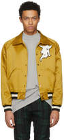 Fear Of God Yellow Satin Coaches Jacket