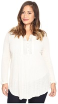 Lucky Brand Plus Size Drop Needle Knit Top