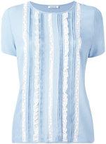 P.A.R.O.S.H. frilled detail T-shirt - women - Silk/Cotton/Polyamide/Acetate - M