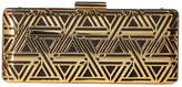 Love Moschino Metal Lace Clutch with Chain Clutch Handbags