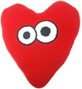 Estella Heart with Eyes Hand-Knit Pillow