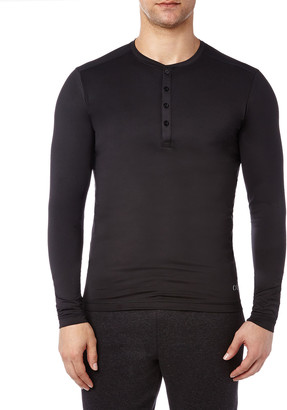 2xist Men's Speed Dri Long-Sleeve Henley Shirt