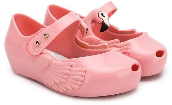 Mini Melissa Ultragirl Theme Flamingo ballerinas