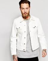 Lee Denim Jacket Slim Fit Rider Clean White Fix Stretch