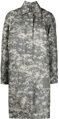 Raeburn Acu abstract-print quilted coat