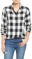 Madewell &Ex Boyfriend& Buffalo Check Slim Shirt
