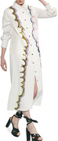 Cynthia Rowley Carson Sequin Embroidered Long Shirt Dress