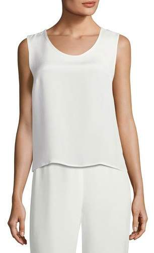 Caroline Rose Silk Crepe Tank Top