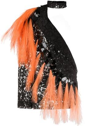 Loulou Fringe-Embellished Lace Top