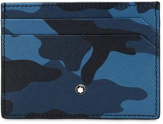Montblanc Camouflage Print Leather Card Holder