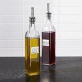 Crate & Barrel Oil and Vinegar Bottle Set