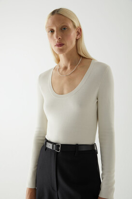 Cos Wool Mix Knitted Long-Sleeve Bodysuit
