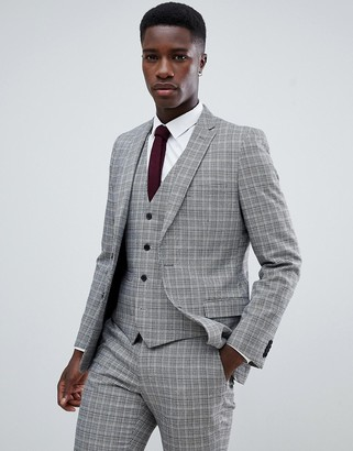 French Connection Heritage Prince Of Wales Check Slim fit Suit Jacket