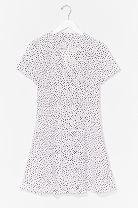 Nasty Gal Womens polka dot button front dress - Black - M