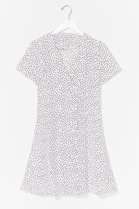 Nasty Gal Womens polka dot button front dress - White - L, White