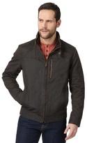 Mantaray Big And Tall Dark Brown Waxed Biker Jacket