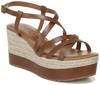 Zodiac Yolanda Leather Espadrille Wedge Sandal