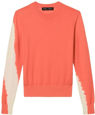 Proenza Schouler Tie Dye Crew Neck Knitted Top