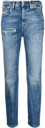 D-Joy high-waisted straight jeans