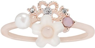 Lauren Conrad Simulated Pearl Floral Cluster Ring