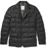 Moncler Rodin Quilted Wool-flannel Down Jacket - Charcoal