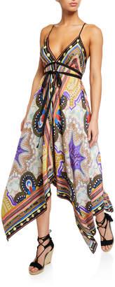 Etro Geometric Paisley Handkerchief-Hem Dress