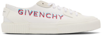 Givenchy White Signature Light Tennis Sneakers