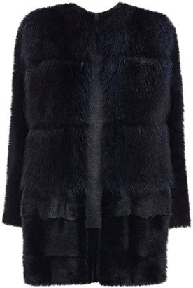 Barneys New York Black Mink Coat for Women
