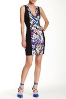 GUESS Solid Panel Print Sheath Dress
